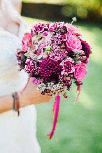 Brautstrauß pink #whitebridalbouquets