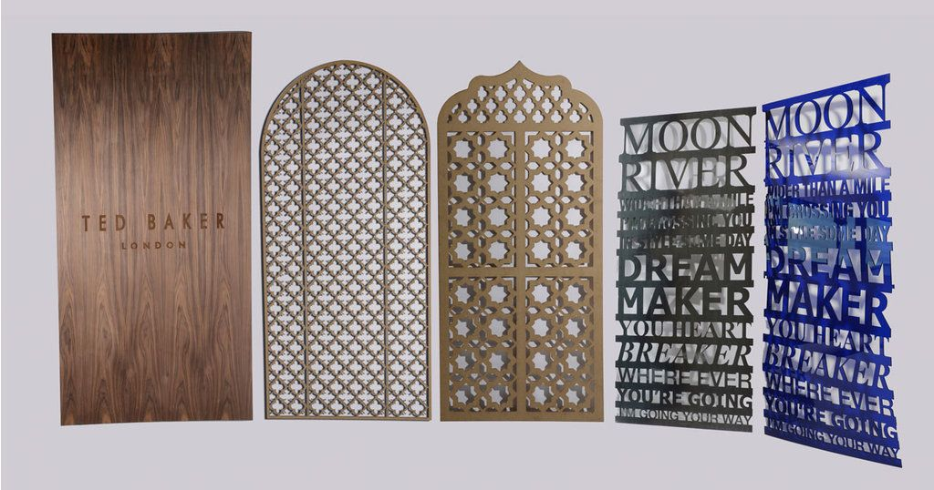 Decorative Panels : This is where laser cutting & engraving really comes into its ow
