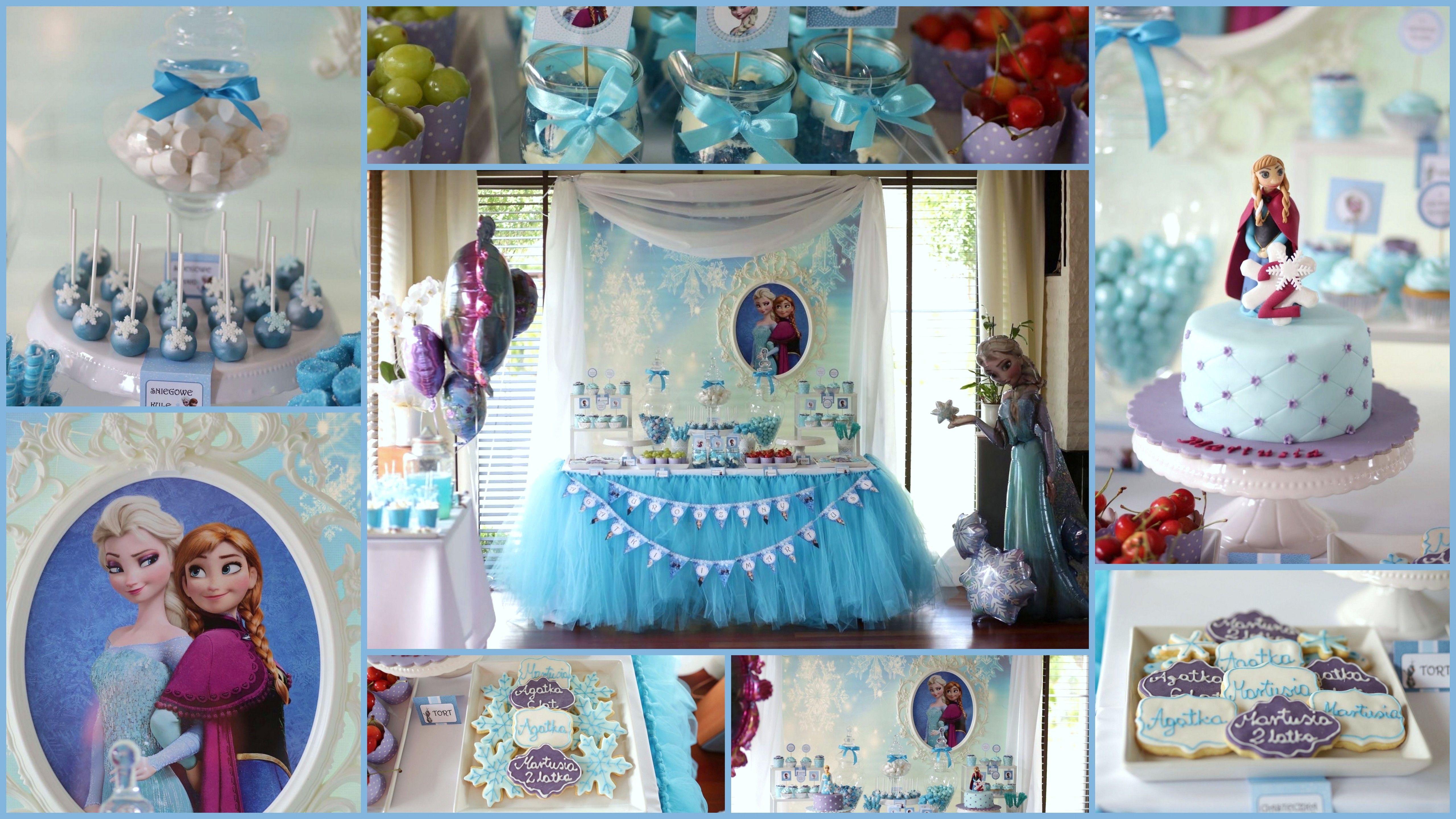 Urodziny W Stylu Krainy Lodu Frozen Birthday Party Just Sweet Studio With Images Frozen Birthday Party Urodziny Frozen