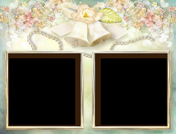 Soft Transparent Double Wedding Frame Wedding Frames Frame Elegant Frame