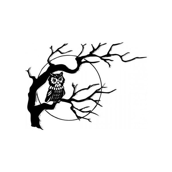 Owl On Tree Branch clip art Free vector in Open office ...