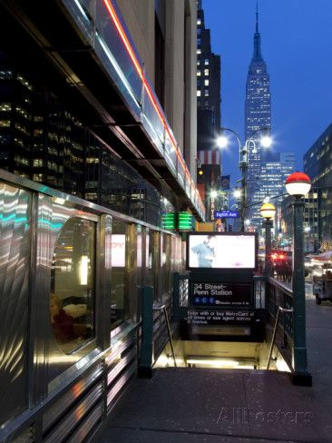 USA, New York City, Diner in Midtown Manhattan Photographic Print by Gavin Hellier at AllPosters.com