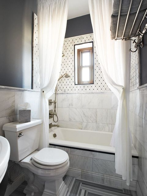 Astonishing White Shower Curtain Of Contemporary Small Bathroom