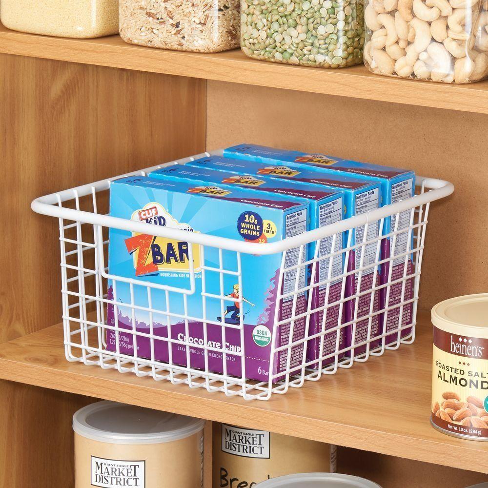 Amazon.com: InterDesign Forma Wire Storage Basket with Handles for ...