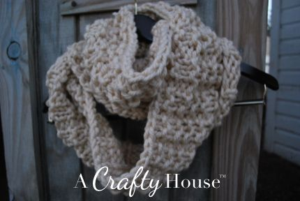 Knitting Scarf Patterns Infinity Scarf : A crafty house: knitting and crochet patterns crafts: easy knit