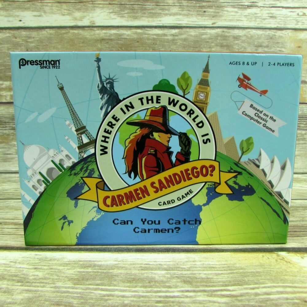 Details About Where In The World Is Carmen Sandiego Card Game 2017 Target Exclusive With Images Card Games Fun Board Games Games 2017