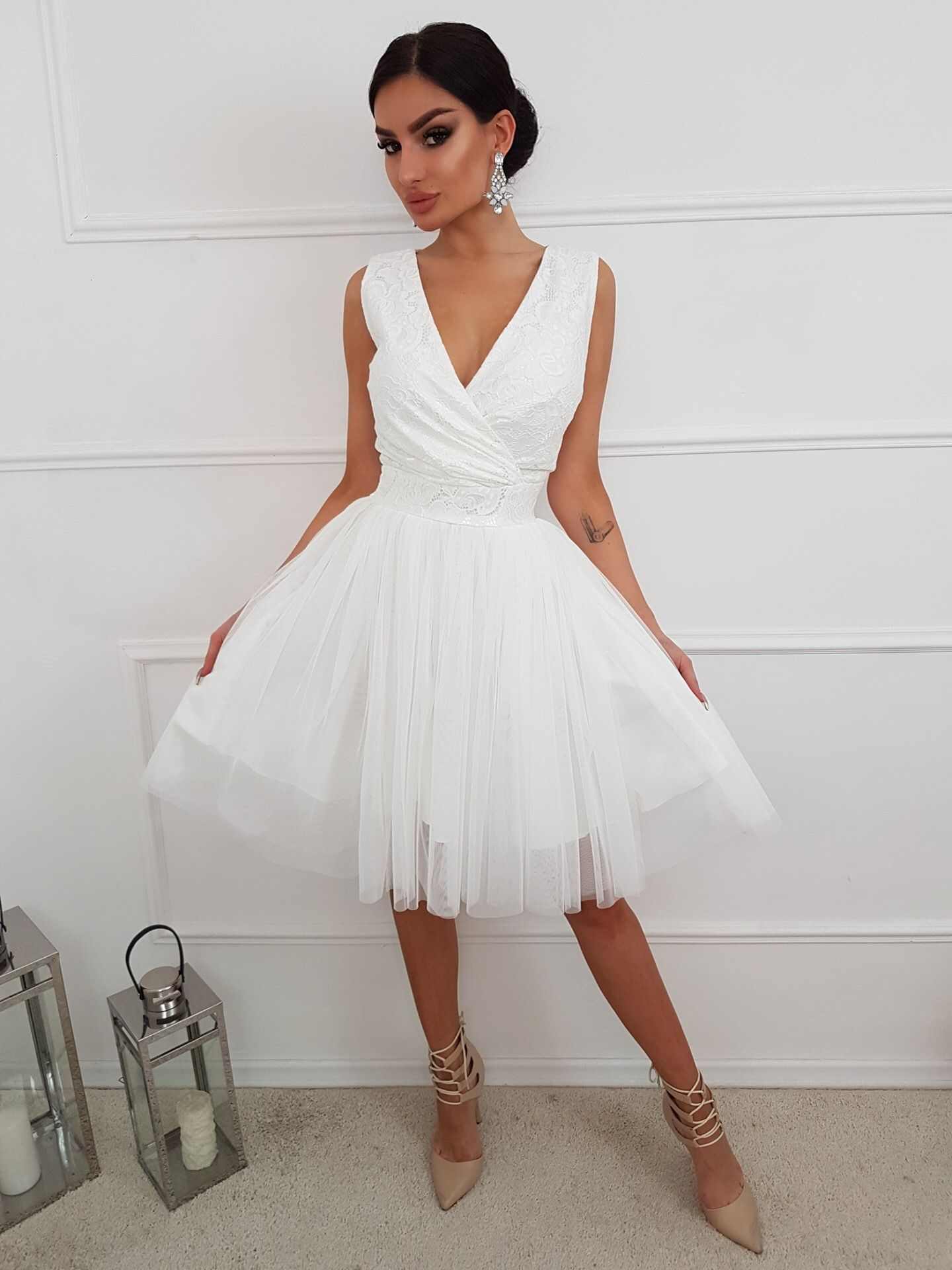 Tiulowa Sukienka Slubna Tulle Dress Fashion Bridal Collection White Formal Dress
