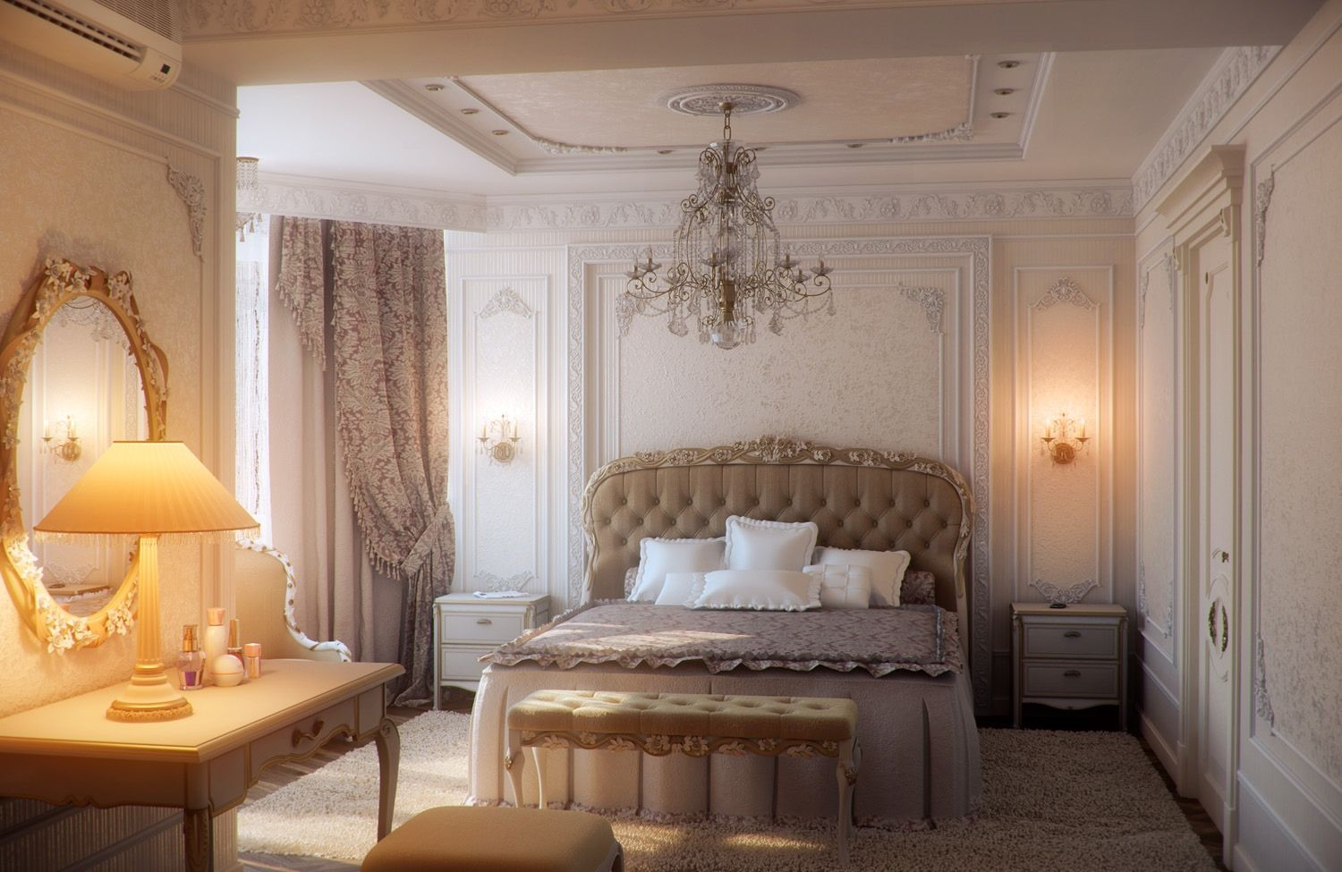 Bedroom Gold Elegant And Romantic Ideas Traditional Furniture