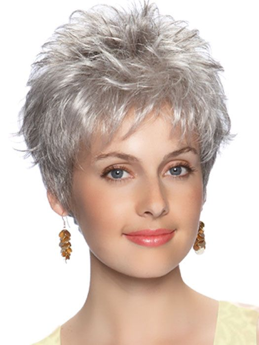 wavy gray hair styles emily wig hair spiky layers with tapering and added 3673