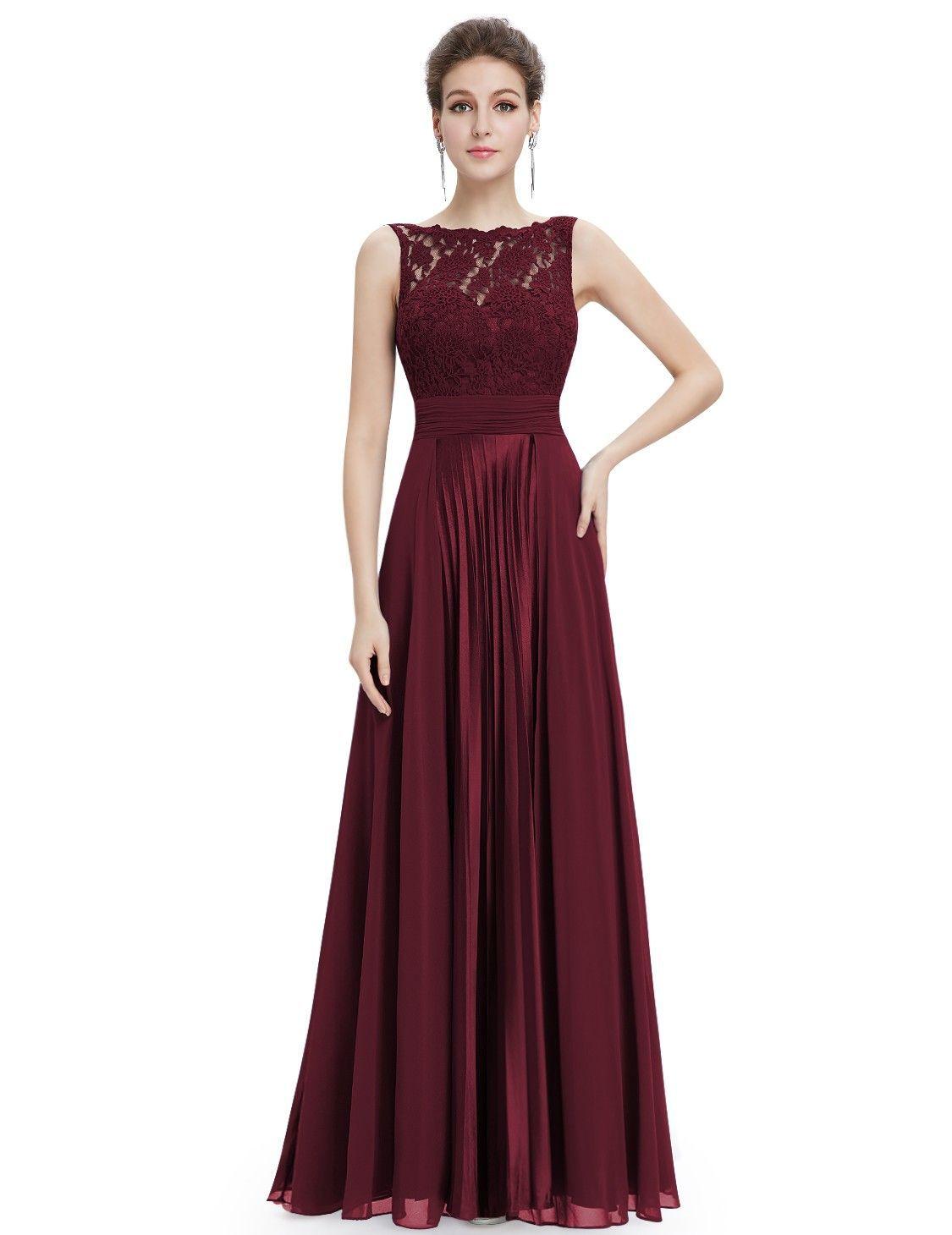 Elegantes Brautjungfer Cocktailkleid 2019 Dunkelrot Rundhals  Abendkleider 2019 Trends Online