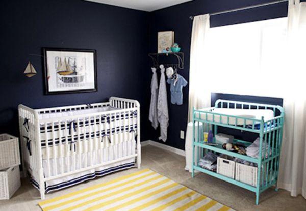 Cores perfeitas (e nada convencionais) para decorar o quarto do bebê  Navy b