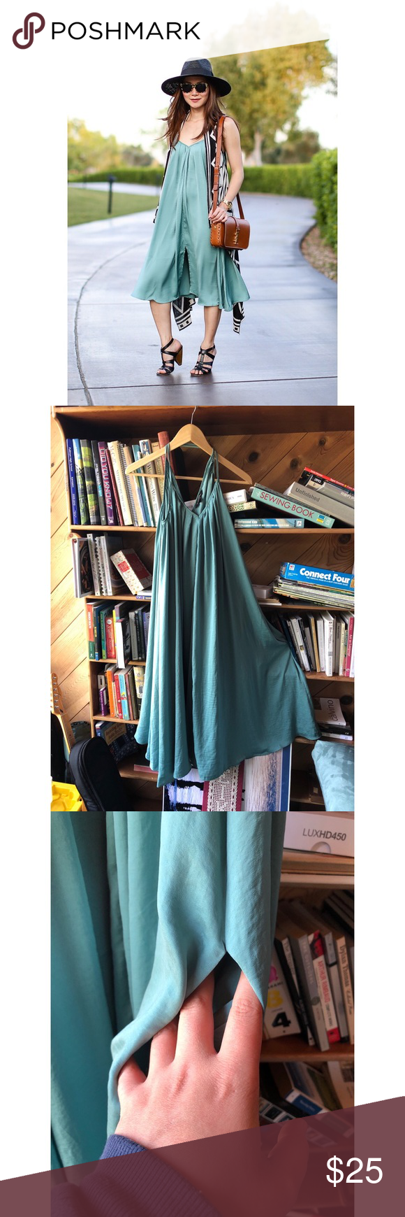 Banana Republic Teal Dress Banana Republic Teal Dress – Small Deze jurk is zo …