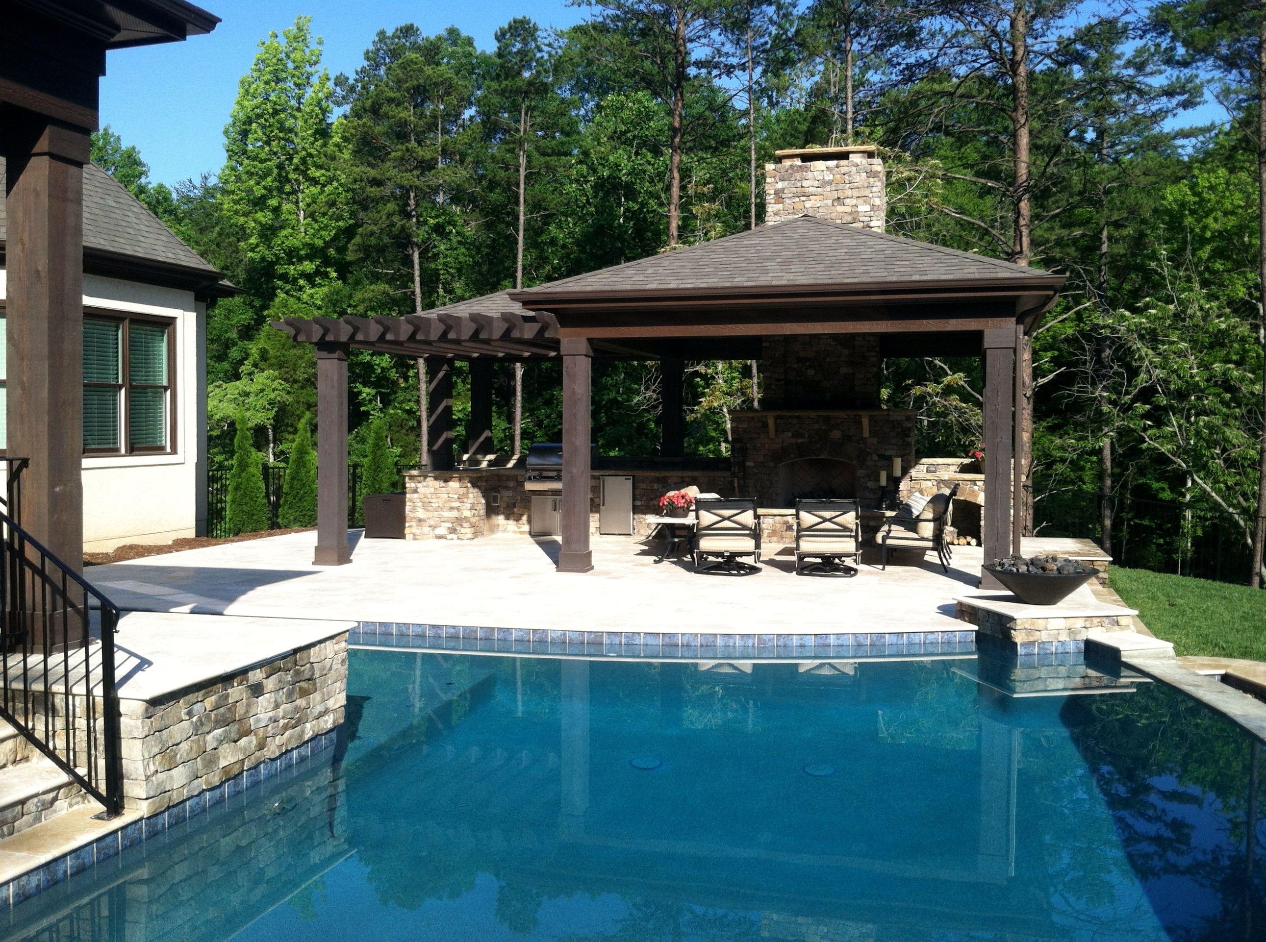 Example of Aqua Blue Pebble Sheen Backyard dreams