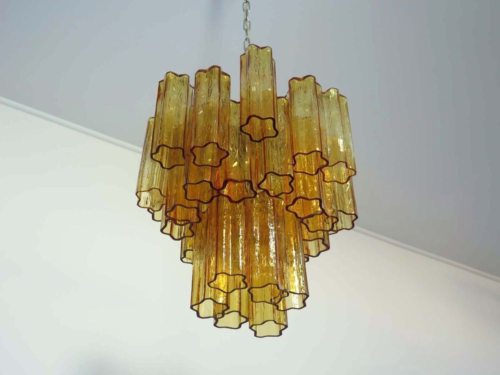 Murano big chandelier in the manner of Venini u2013 111 traparent\/pink - designer leuchten la murrina