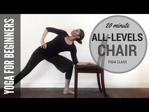 20 minute alllevels chair yoga class  youtube with