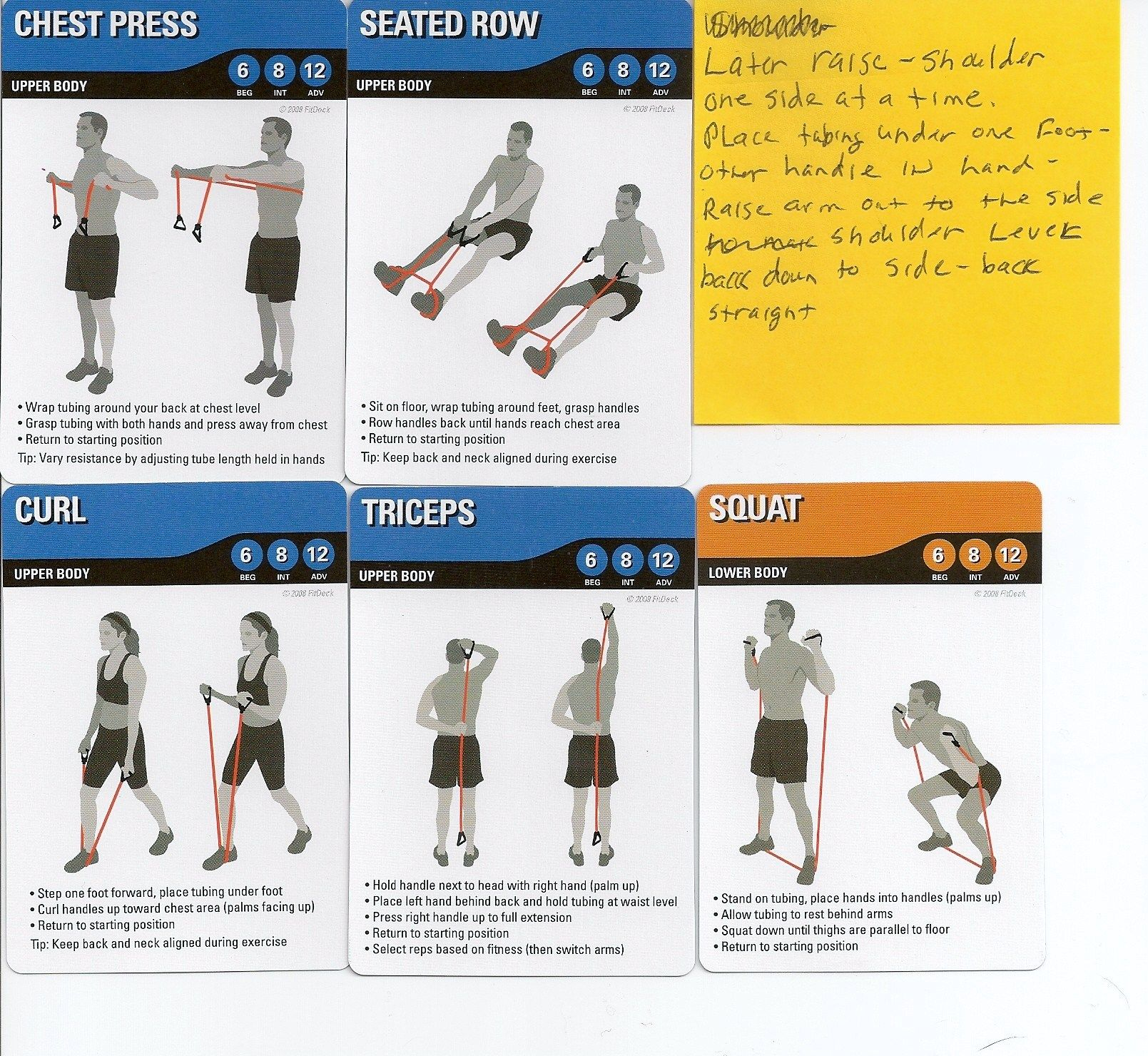 Full Body Resistance Tube Workout