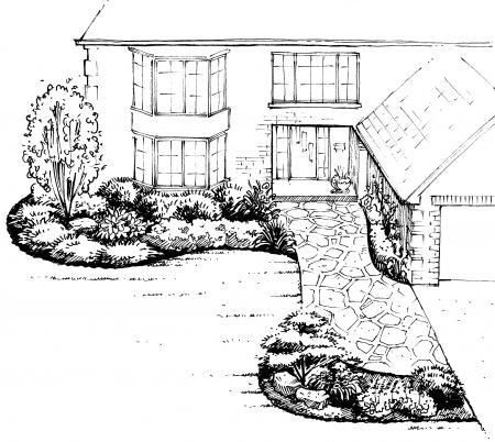 Front Yard Landscape Design A sample shopping list 1 - landscape - sample shopping list