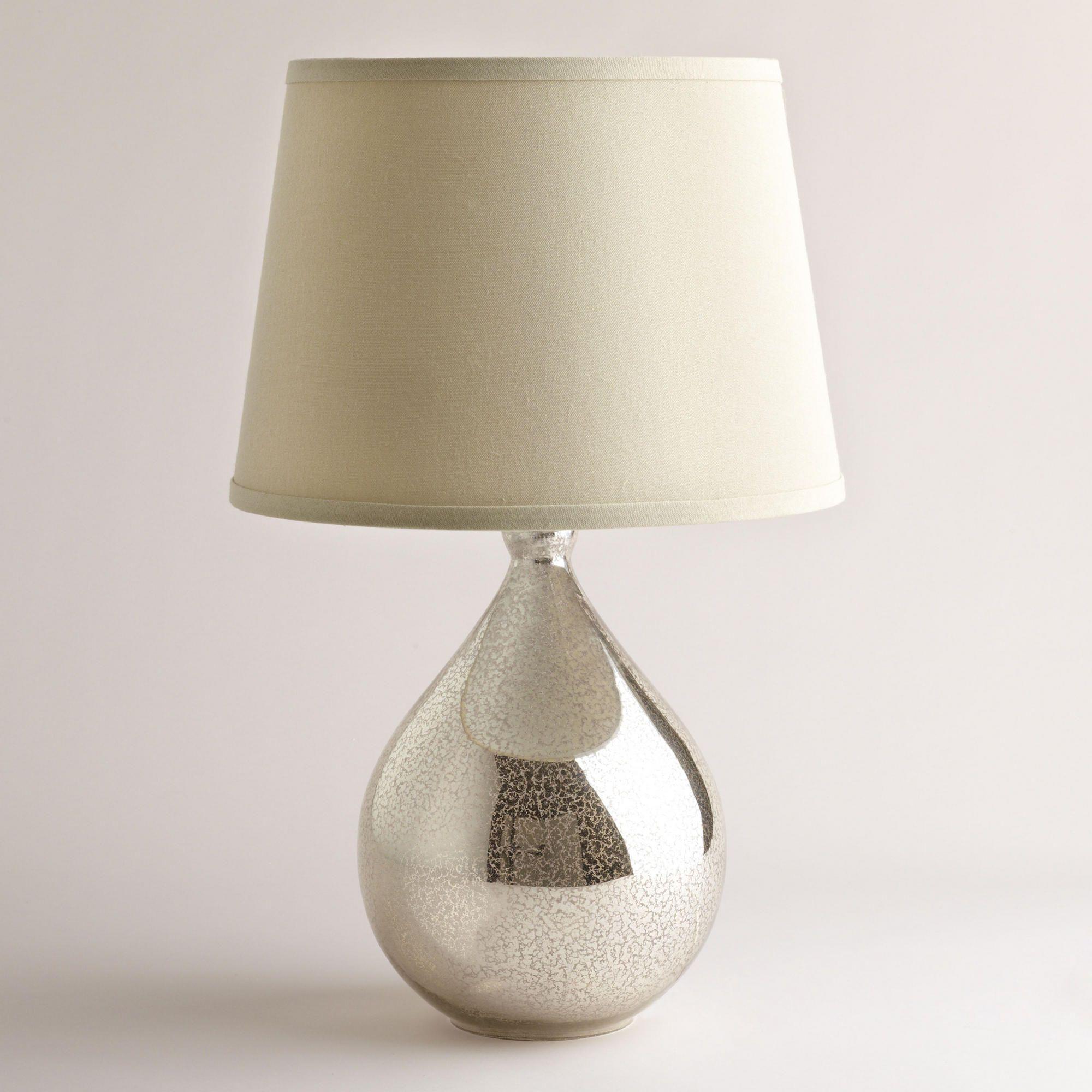 Martina Aged Mirror Table Lamp Base   Mirror table lamp
