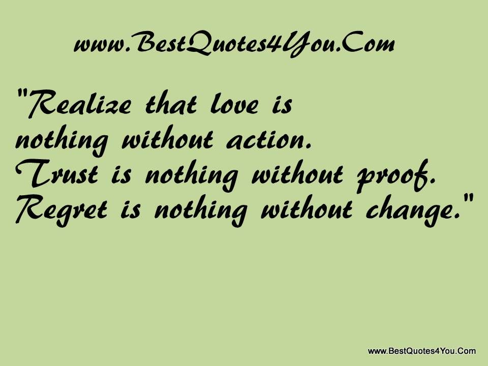 Words Mean Nothing Quotes Quotesgram: Words Mean Nothing Without Action.