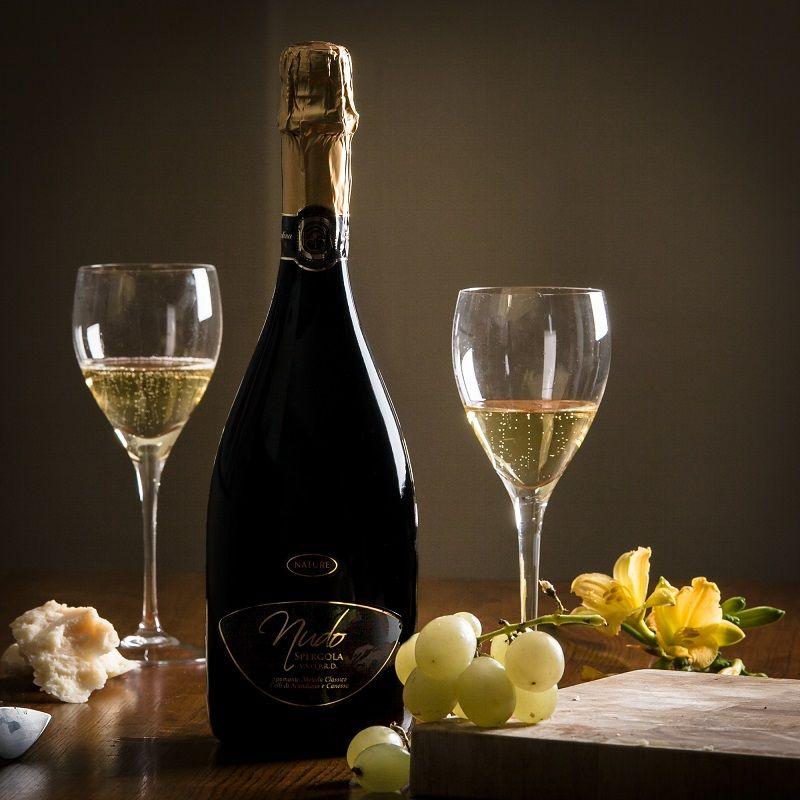 Brut Sparkling, Spergola, Classic Method #Wine - Nudo (Nature) label #food #italianfood #italianwine