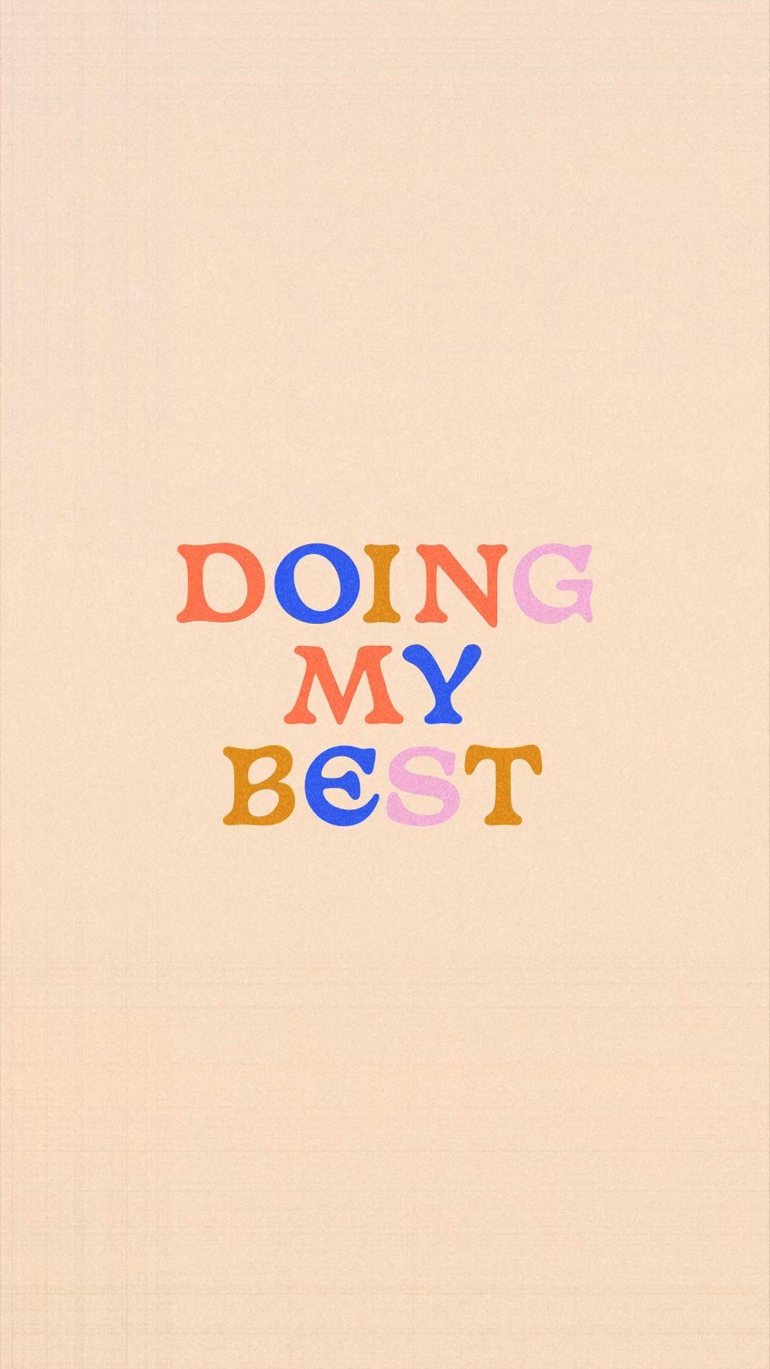 doing my best ✽