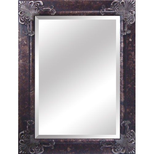 Bassett Mirror Company Wood Frame Antique Gold And Black Leaner Mirror Silver Framed Mirror