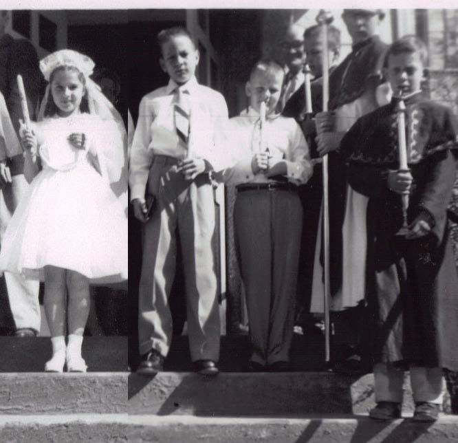 Torie's and Michael's first communion, from the novel, A Devil Singing Small.