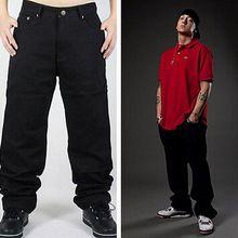 265c905a3e33f Pantalones de Jeans anchos y holgados estilo Hip Hop para hombres ...