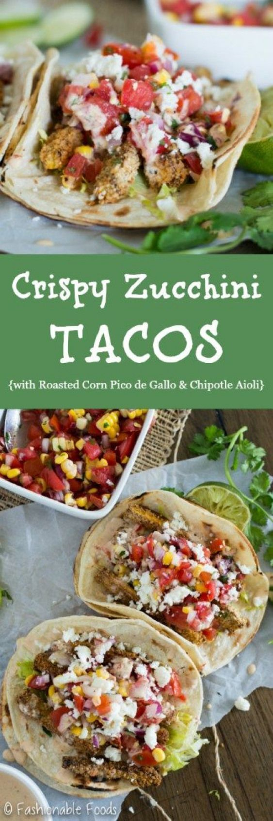 Your favorite recipe source for healthy food [Paleo, Vegan, Gluten free] #picodegallorecipes Crispy zucchini tacos are the perfect way to celebrate Taco Tuesday all summer long! These summer-inspired tacos are full of fresh flavors with a roasted corn pico deGallo and are finished off with a garlicky chipotle aioli. Taco heaven! #paleodinner #picodegallorecipes Your favorite recipe source for healthy food [Paleo, Vegan, Gluten free] #picodegallorecipes Crispy zucchini tacos are the perfect way t #picodegallorecipes