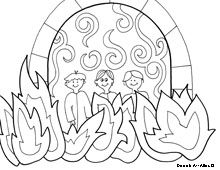 The Fiery Furnace - Coloring Page - SundaySchoolist