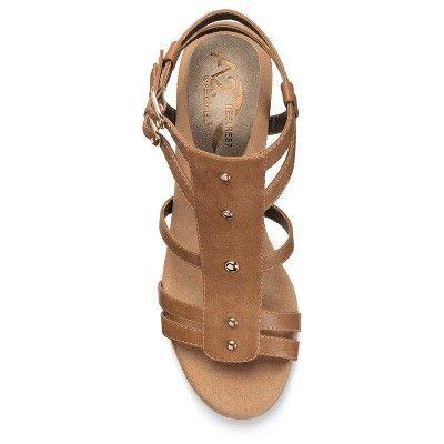 c289f683ca1 Women s A2 by Aerosoles Mayor Heeled Gladiator Sandals - Tan 5.5 ...