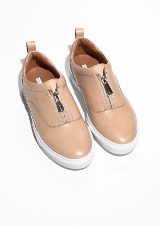 & Other Stories | Zip-Up Leather Sneakers