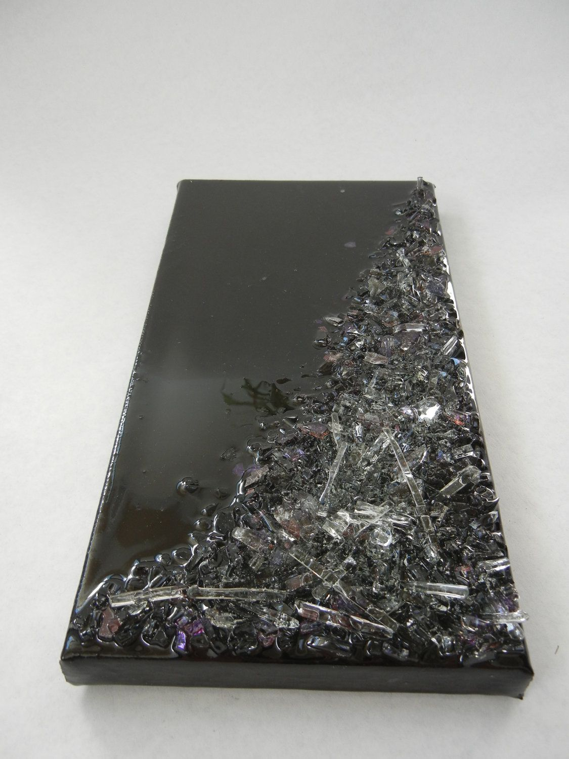 Recycled Glass Resin Wall Art - via Etsy. | crafts:D ... - photo#31