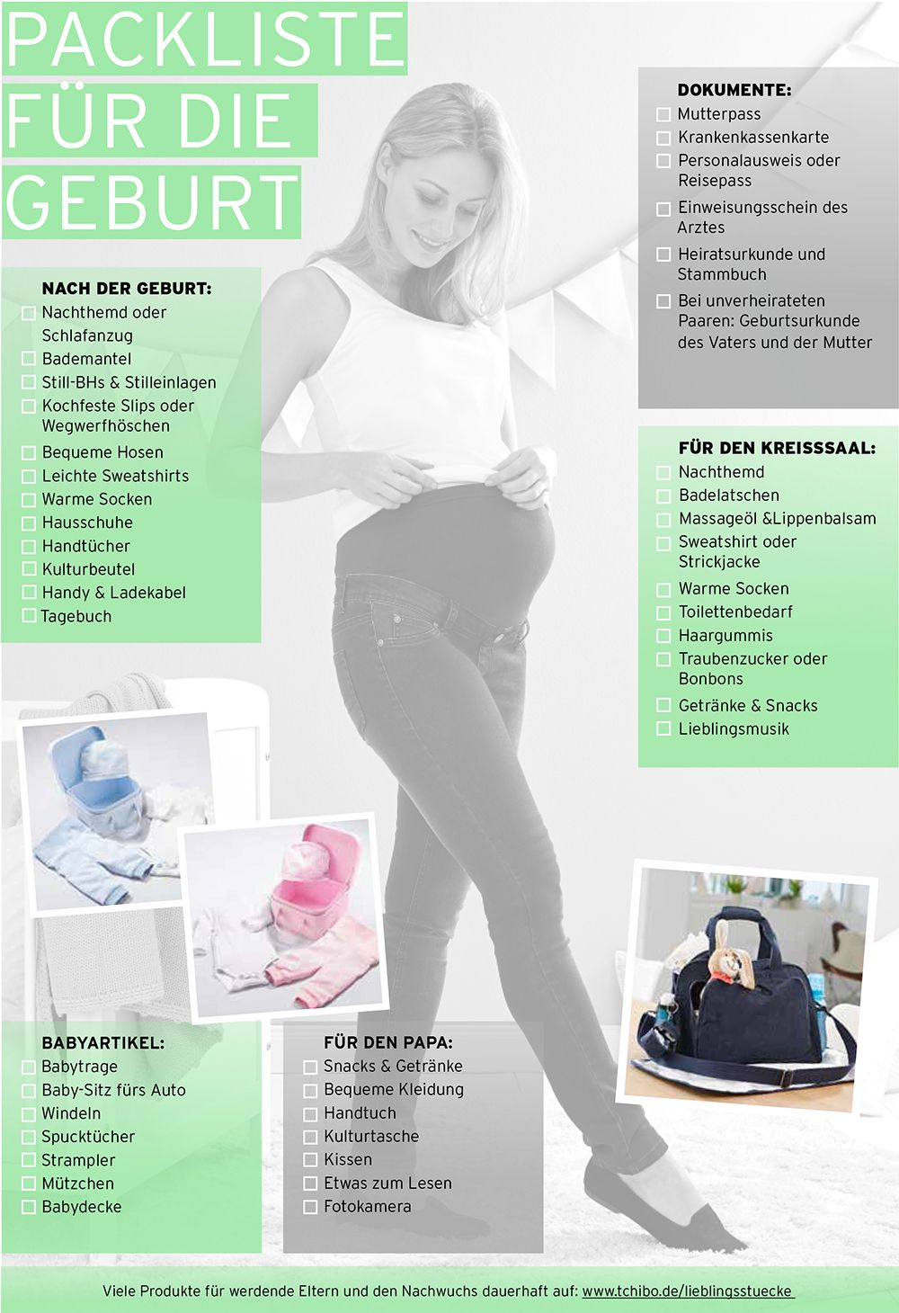 Startklar fürs Krankenhaus: die Packliste für die Geburt ...