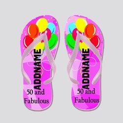 e1431b452 Fabulous 50th Flip Flops Dazzle
