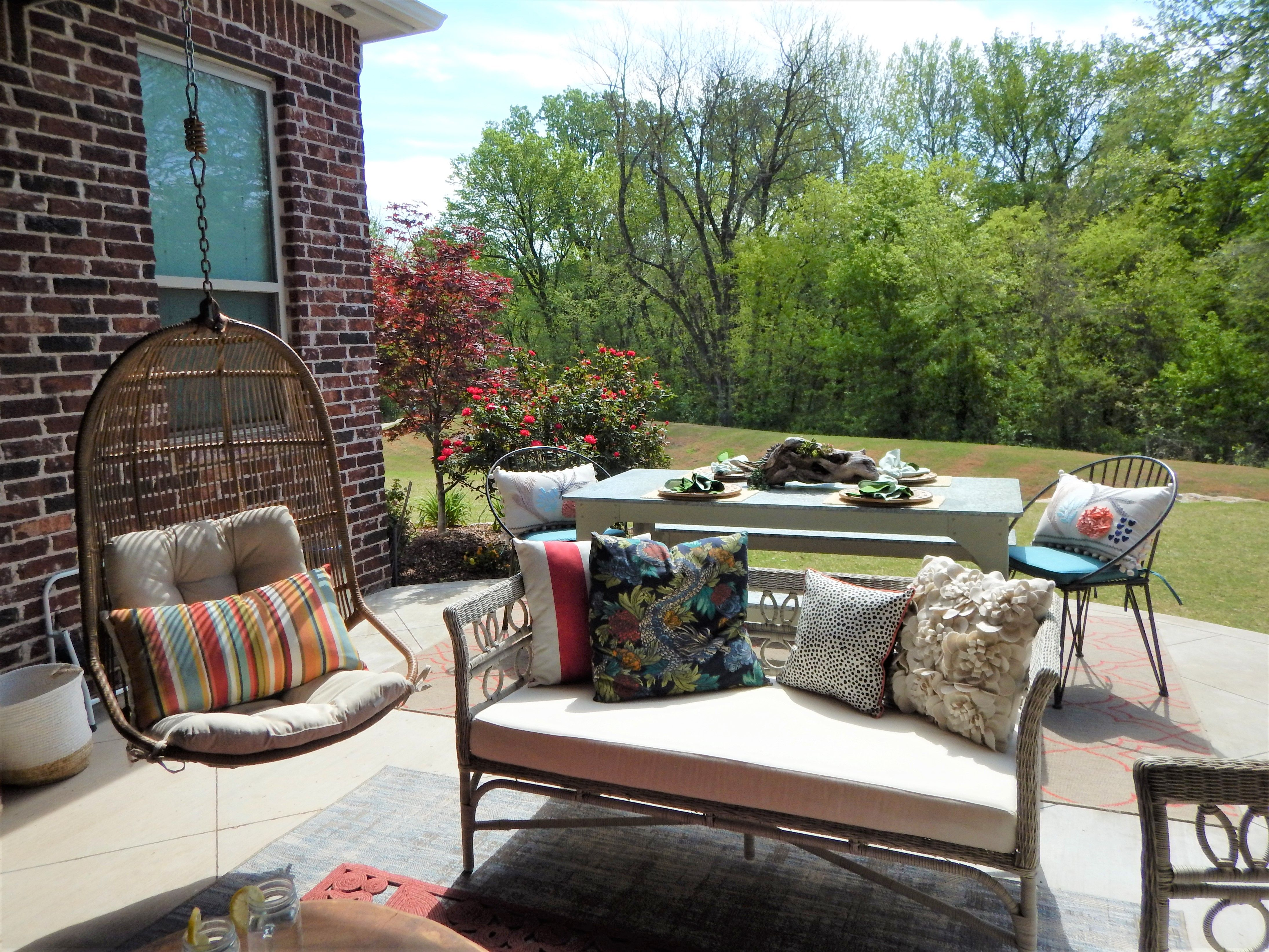 outdoor living space designed