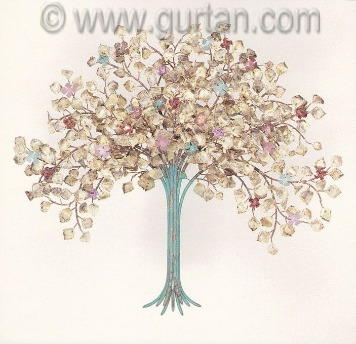 Outdoor Wall Sculptures Metal Fair Spring Blossoms Metal Wall Art Made In Copper For Outdoors  Metal Design Decoration