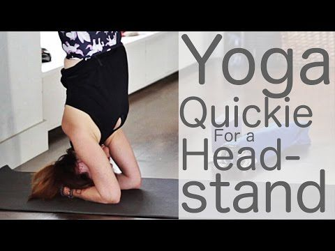 yoga quickie for a headstand with lesley fightmaster
