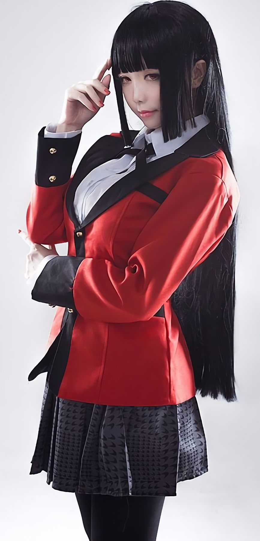 c2de315655d New Anime Kakegurui Yumeko Jabami Cosplay Costumes School Girls ...