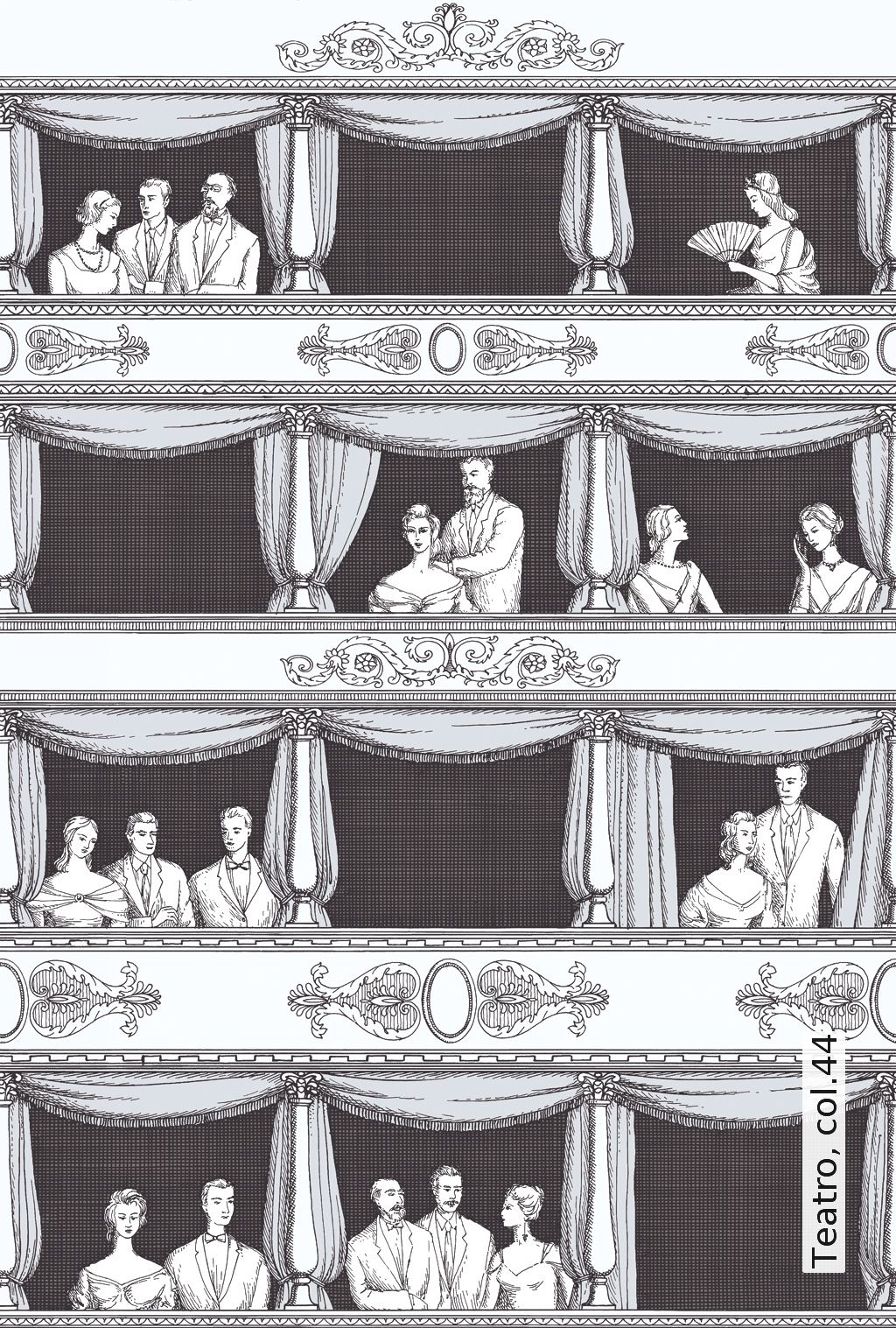 tapete teatro tapetenagentur schwarz wei tapeten pinterest tapeten wei e. Black Bedroom Furniture Sets. Home Design Ideas