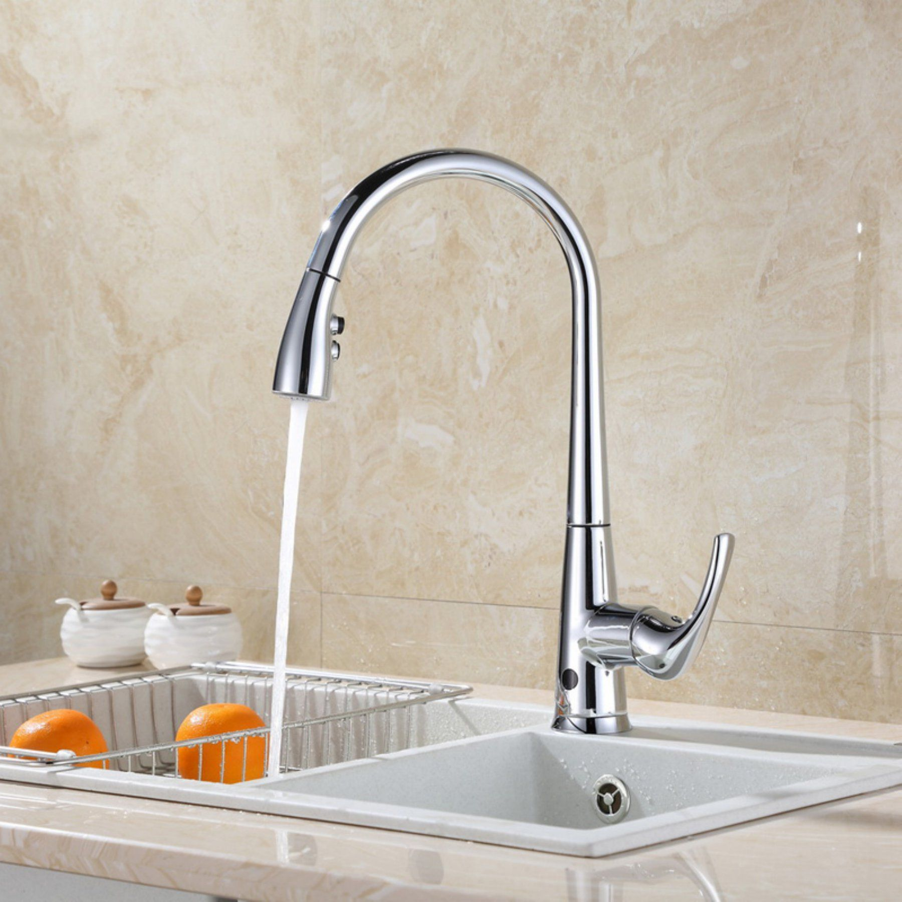 RunFine Group Hands Free Pull Down Kitchen Faucet - RF411003 ...