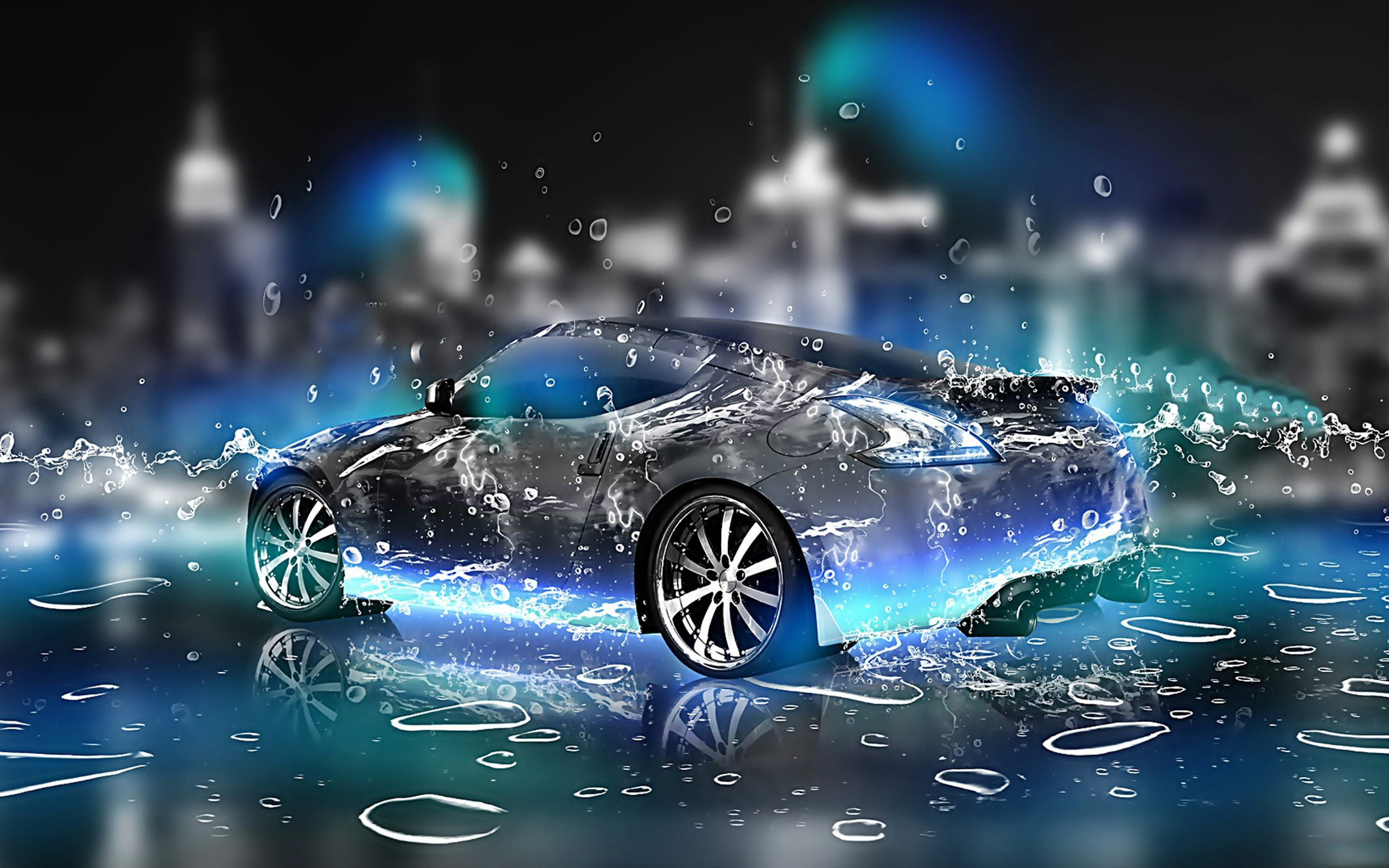 3d car hd pictures widescreen hd hq latest water effect graphics