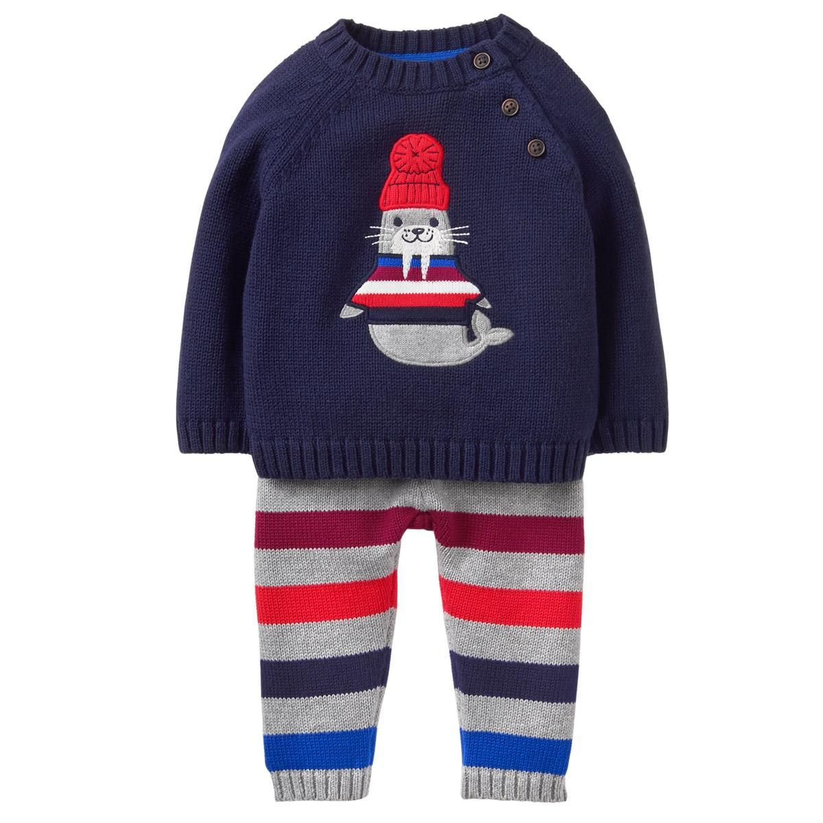 Baby Gym Navy Walrus Sweater Set by Gymboree | Boys clothing ...