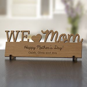 Engraved Mommy Wood Plaque Personalized Mother S Day Gifts Diy