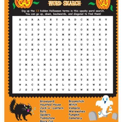 halloween wordsearch for kids printable - Halloween Word Searches For Kids