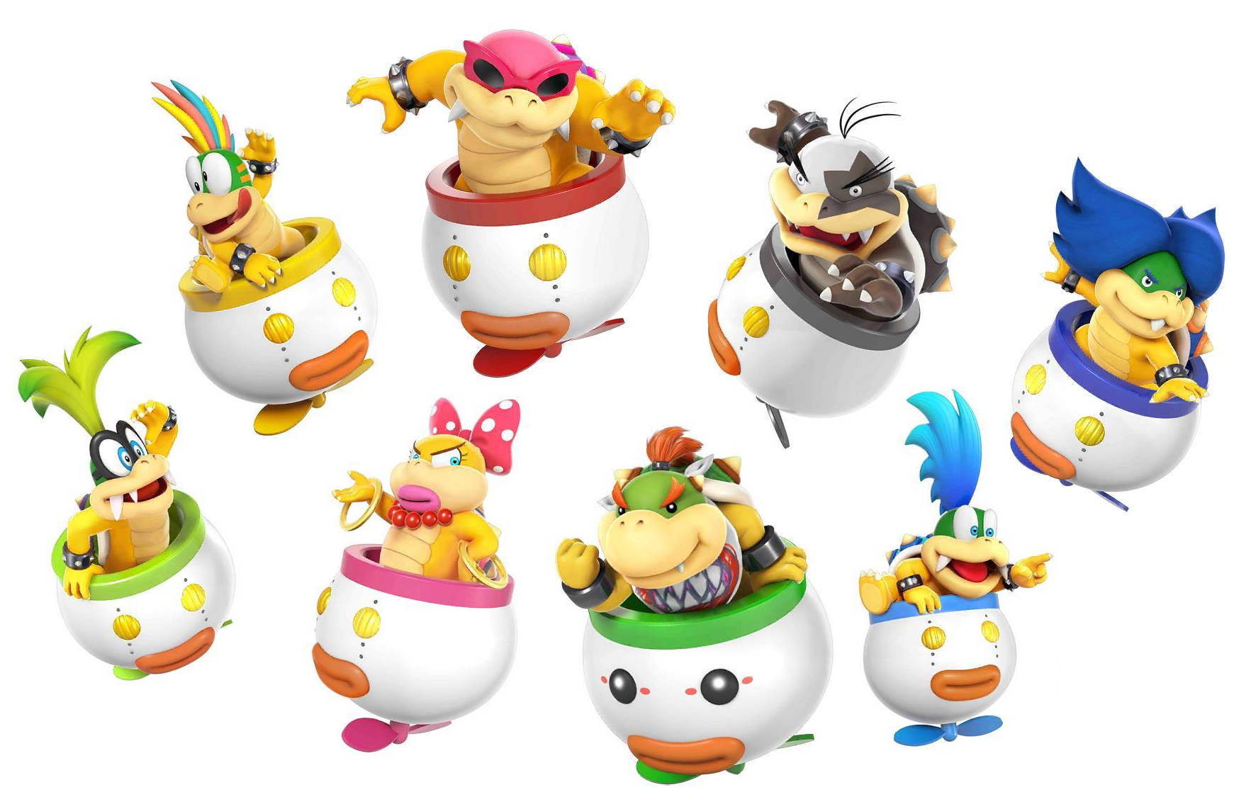 Koopalings & Bowser Jr. Artwork (Bowser Jr. Is player, 7 Koopalings on kano world map, nintendo world map, ventus world map, kirby world map, super mario galaxy world map, mushroom world map, dracula world map, shadow the hedgehog world map, super mario kart world map, raphael world map, sly cooper world map,