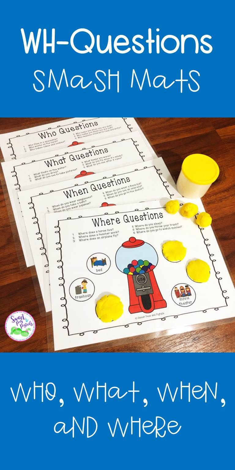 Wh Questions Smash Mats Language Therapy Activities Speech Therapy Themes Speech Therapy Activities