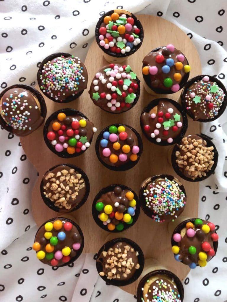 muffins im waffelbecher einfaches rezept für den