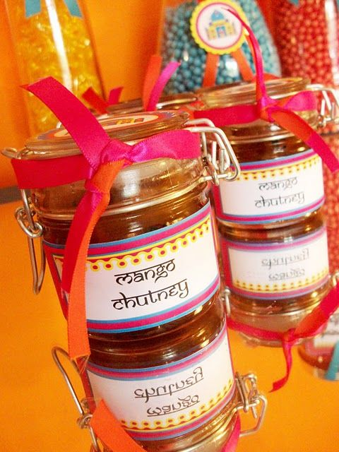 Chutney - Indian wedding favor. Yum... actually a really smart idea ...