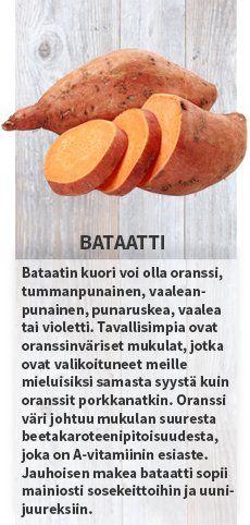 Bataatti #satokausikalenteri #sesonkikasvikset #hedelmä #kiivi #artisokka #bataatti #vuonankaali #ananas #verigreippi